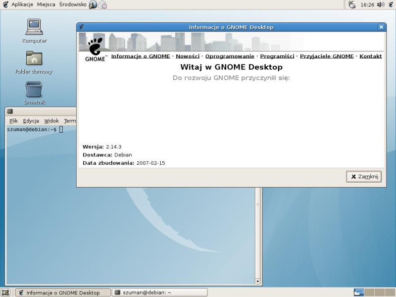Pierwsze spotkanie z Debianem