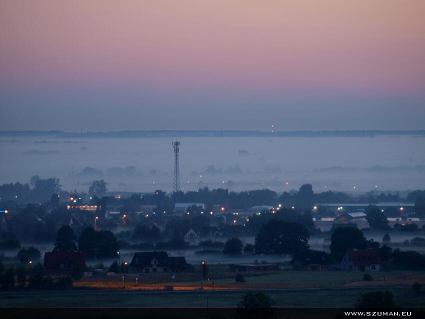 Wschód słońca z dębickiej panoramy - cz.1
