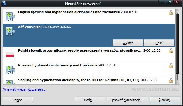 OpenOffice.org i docx: nowa wersja wtyczki