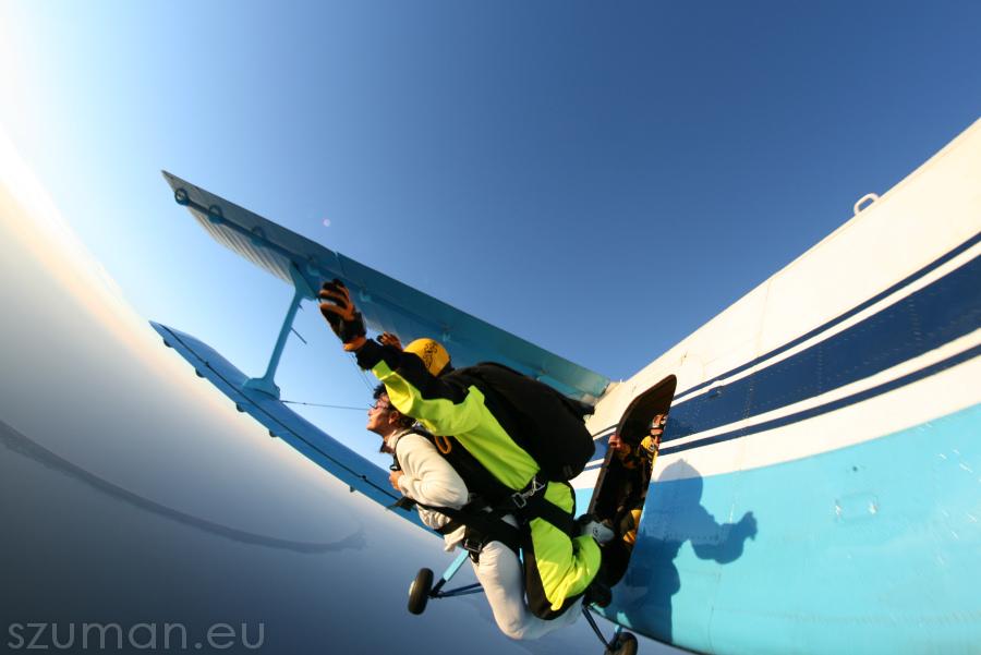 Skoki spadochronowe w tandemie by SSAE Elbląg