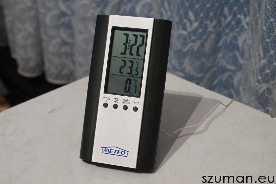 Elektroniczny termometr - mała rzecz, a cieszy :)
