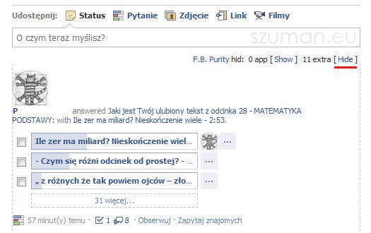 Jak usunąć/ukryć ankiety/odpowiedzi na Facebooku?