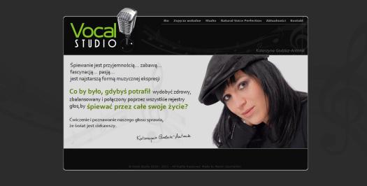VocalStudio.pl – strona, którą robiłem dwa razy :)