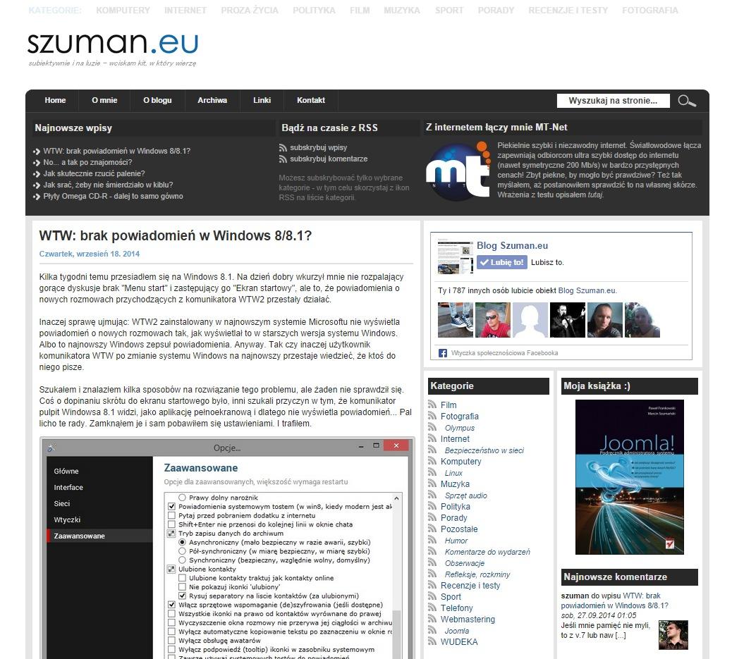 Nowa odsłona Szuman.eu