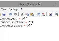 Tak wygląda mój php.ini