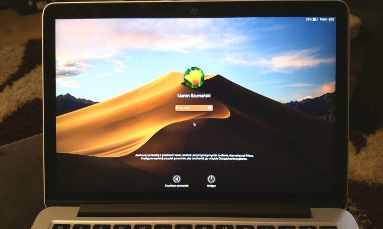 Problem z logowaniem - macOS Mojave