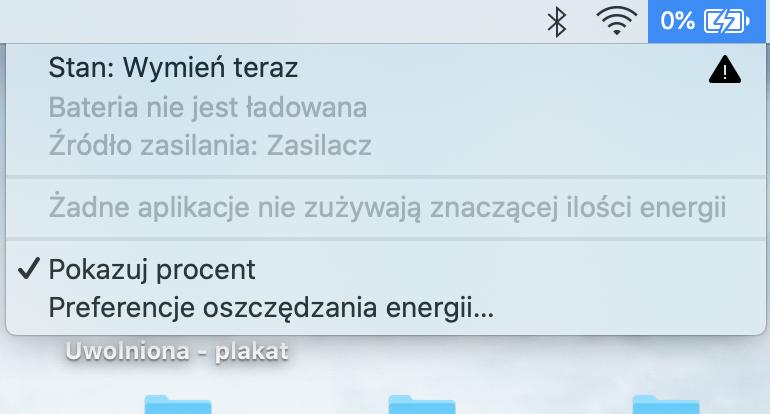 MacBook z zepsutą baterią - używać?